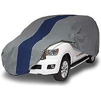 Duck Covers Cubierta de SUV Doble Defensor, Gris/Azul Marino, 210 Inch Length x 68 Inch Width x 60 Inch Height