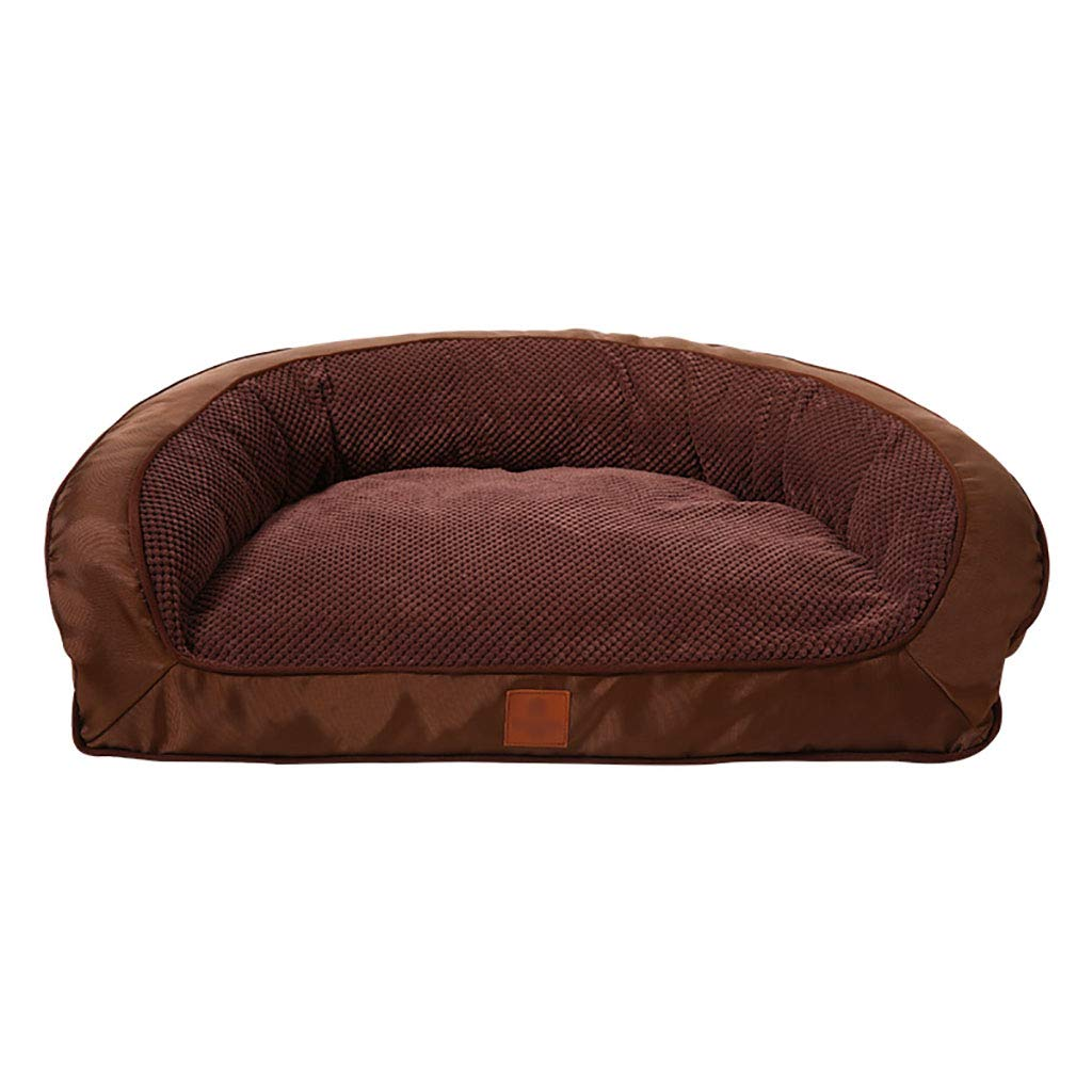 B 1209032Pet house kennel Washable Small dog Large dog Medium dog pet bed Pet mat Pet nest   Soft and comfortable Four seasons available (color   A, Size   75  55  28)