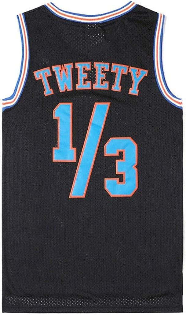 Space Jam Jersey # 03.01 Tweety Tune Squad Film Classic Retro Version Gedenkausgabe Jahrgang Jugend Basketball Vest