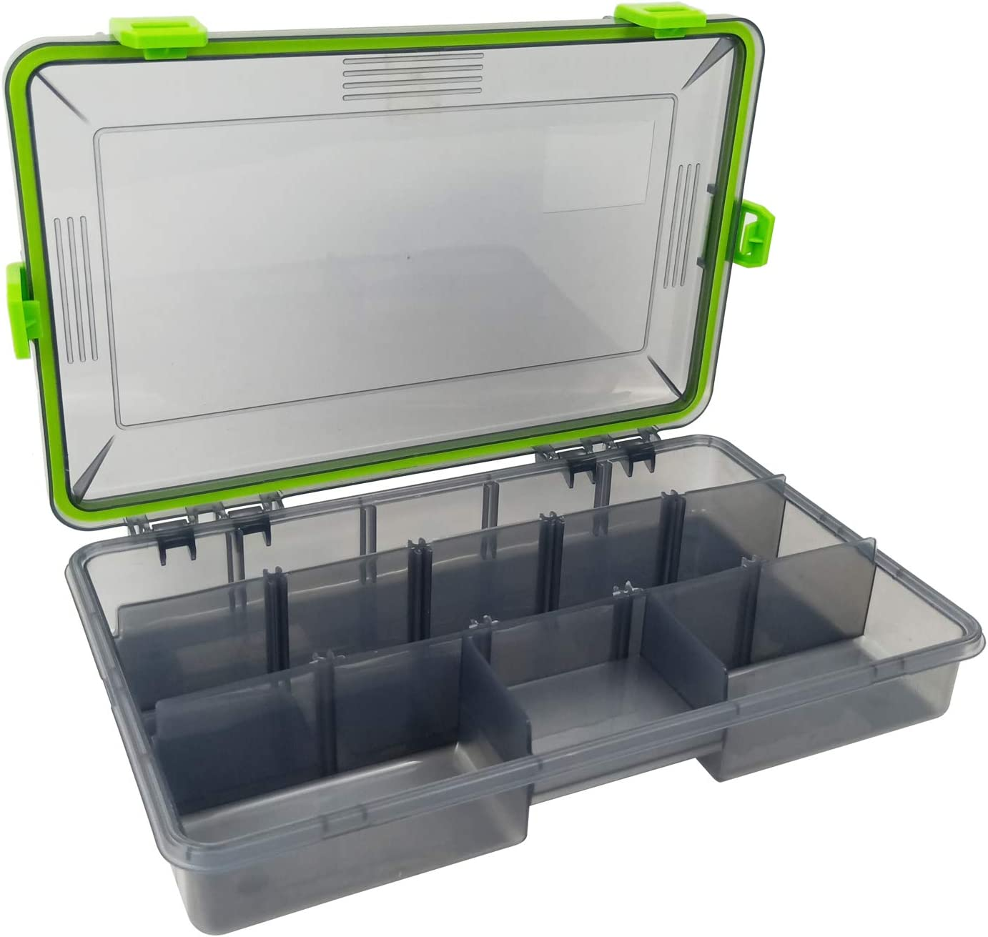 Aventik Transparent Plastic Waterproof Fly Box Storage with Adjustable Dividers
