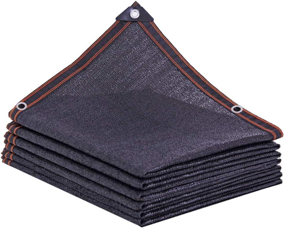 cortina de la red 75/% Bloqueador solar Negro granel UV y resistente borde de la tela de malla Lona para Net sombra planta de invernadero sujetada 2mx2m Cortina de tela con protecci/ón ojales Sol