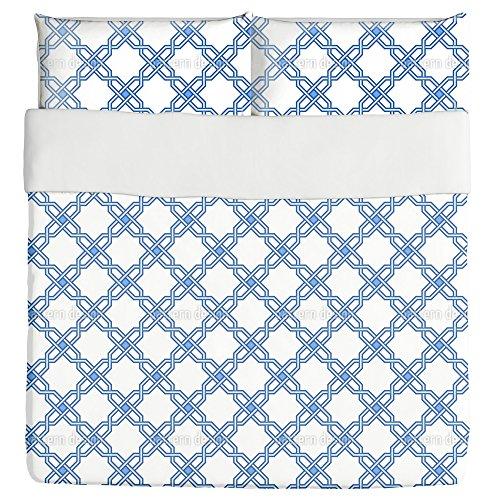 Lattice Arabica Duvet Bed Set 3 Piece Set Duvet Cover - 2 Pillow Shams - Luxury Microfiber, Soft, Breathable by uneekee