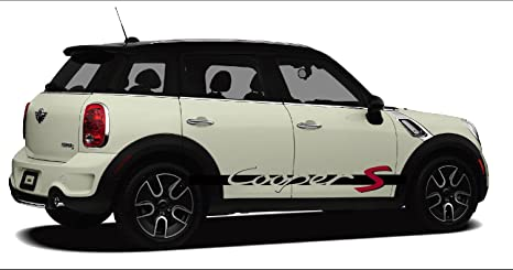 Mini Cooper Models >> Mini Cooper S Side Decal Decal Set D Fit All Models Black D Red