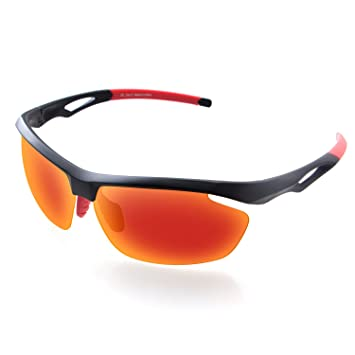 GlobaLink Gafas de Sol Deportivas Polarizadas UV400, Ultra Ligera Revestimiento Impermeable Anti-Oil,