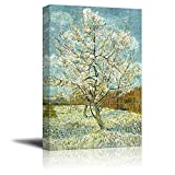"Wall26 - The Pink Peach Tree by Vincent Van Gogh - Canvas Print Wall Art Famous Oil Painting Reproduction - 32"" x 48"""