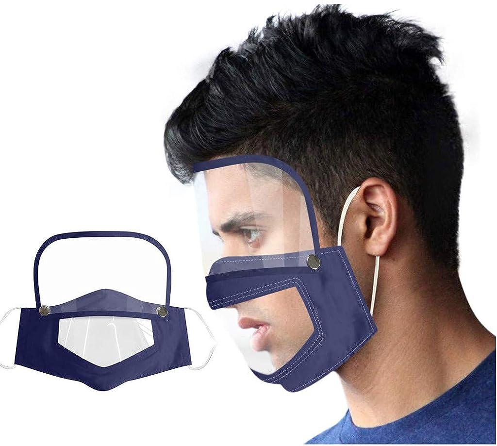 DETALLAN Adult Reusable Face Bandanas Breathing Valve Cotton Outdoor Eyes Protective Face M/àsc with Eyes Shield Red