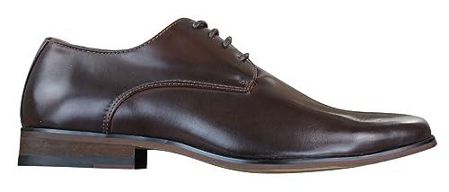 Scarpe Classiche da Uomo in Finta Pelle Marrone Stile Vintage con Lacci  Marrone 5UK efd13c0ee47