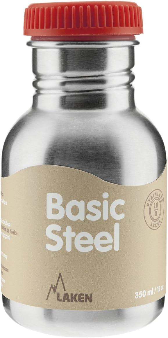 Laken BS50R Botella de Acero Inoxidable conTapón, 350 ml, Rojo