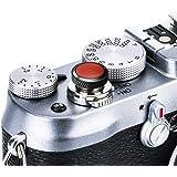 JJC 互換ソフトシャッターレリーズボタンキャップ 富士フイルム X-T3 XT3 X100F X-Pro2 X-Pro1 X-T2 X-E3 X-E2S X-T20 X-T10 X100T X100S X30 Sony RX10 IV、RX10 III II、RX10、RX1R II、RX1 R、RX1 / B ブラウン
