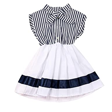 5e918bafc Amazon.com  Sunward Summer Infant Kids Baby Girl Summer Sleeveless ...