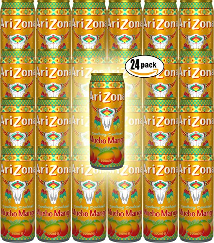 Arizona Juice Cowboy Cocktail Mucho Mango, 11.5 oz Can (Pack of 24, Total of 276 Oz)