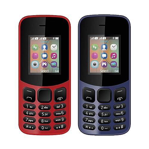 IKALL 4.57cm (1.8 Inch) Combo Phone-K12 (Red & Blue)