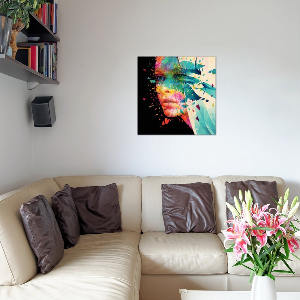 iCanvasART Paint Flowers Canvas Print by Alessandro Pautasso 37 x 37