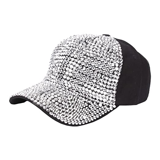 7ef06ab21c8 Image Unavailable. Image not available for. Color  MaiYi Novelty Baseball  Cap - Glittering Rhinestone Denim Cap Sun Hat Peaked ...