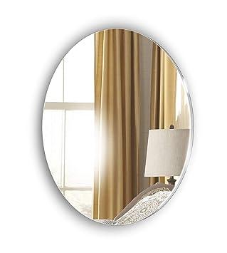 Miroir Ovale Sans Cadre Décoratif Pas De Diy Pas Besoin De Clou