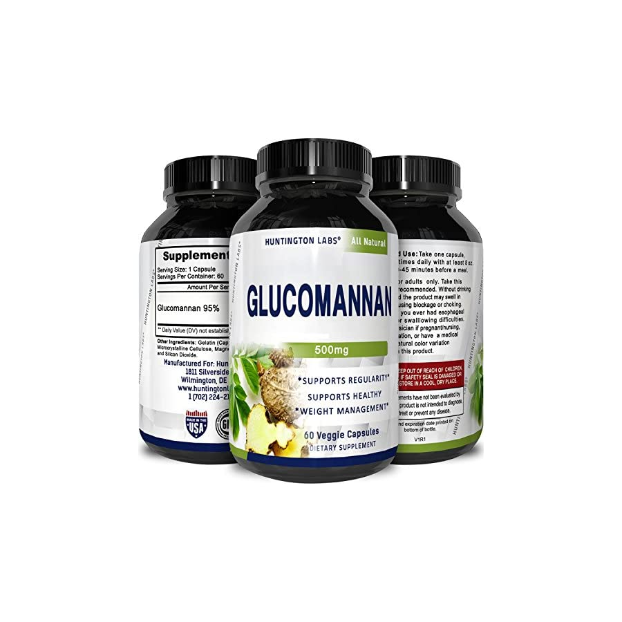 Pure Glucomannan Powder Bulk Supplements for Natural Constipation Relief Appetite Control Fiber Capsules to Lose Weight Weight Loss Pills for Women and Men Colon Cleanse Detox by Nature Bound