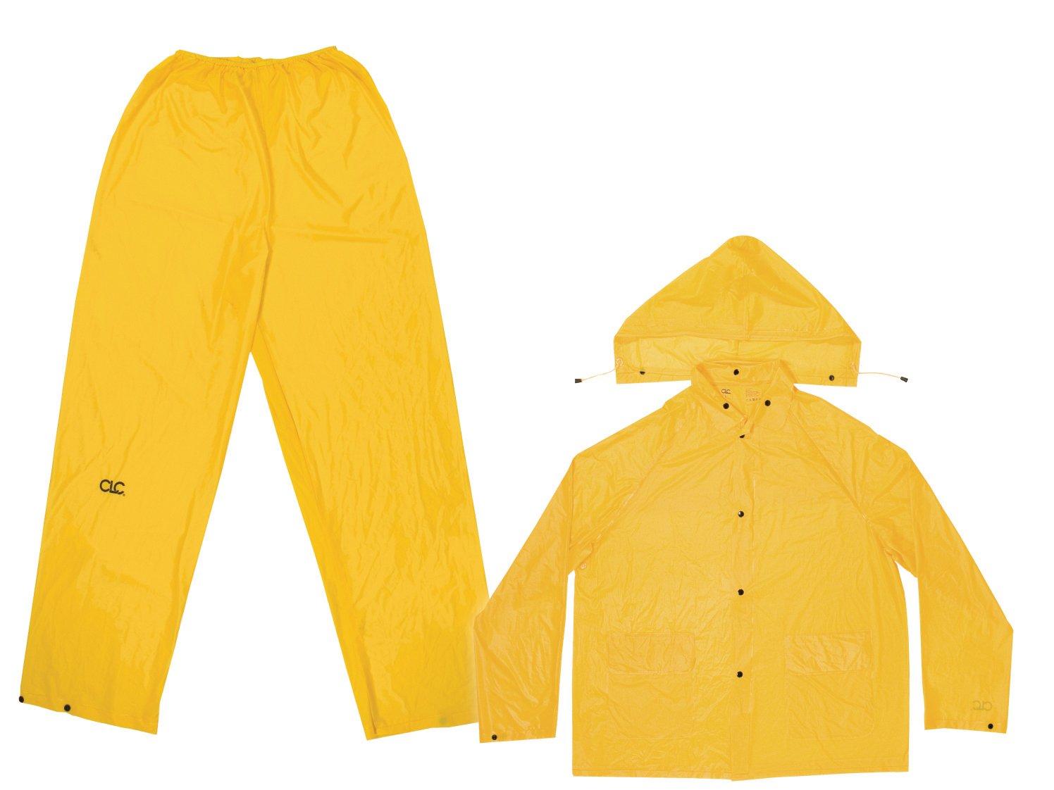 CLC Custom Leathercraft Rain Wear R106M .10MM 3-Piece PVC Rain Suit - Medium