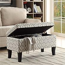 Convenience Concepts Designs4Comfort Winslow Storage Ottoman Ribbon Pattern Fabric