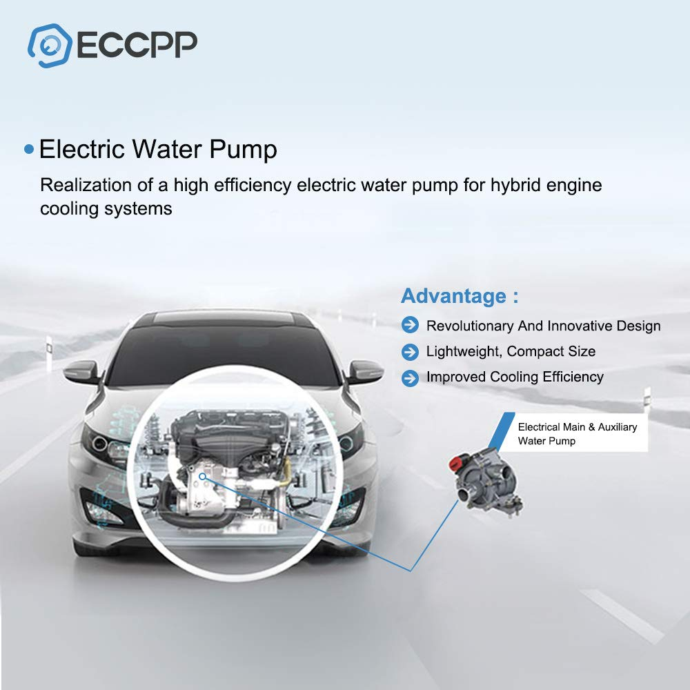 ECCPP Electric Auxiliary Water Pump Fit for 2000 2001 2002 Audi A6 2000 2001 2002 Audi A6 Quattro 2000 2001 2002 Audi S4 2006 Audi TT 2001 2002 2003 2004 Audi TT Quattro Water Pump