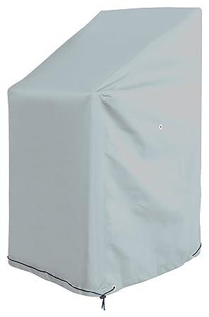GardenMate Housse protectrice pour fauteuils de Jardin en Polyester Oxford  220g/m2 - Qualité Premium - 65 x 65 x 80/120 cm - Gris Glacier