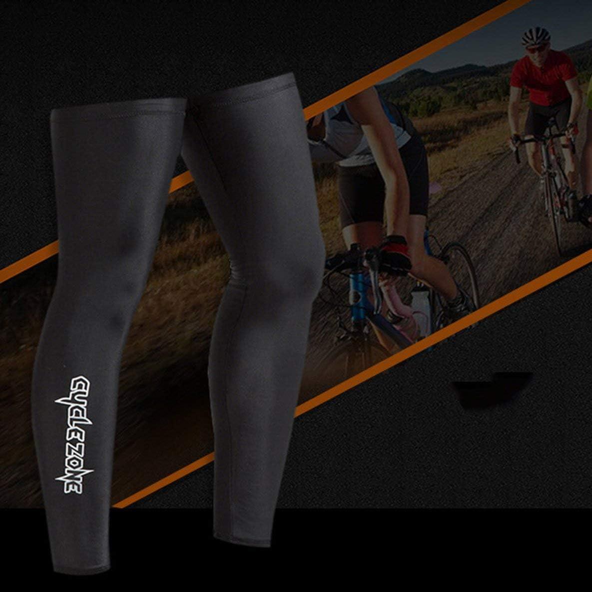Protection UV ext/érieure Jambe V/élo V/élo Bicyclette Riding Bras Manches Hommes Femmes Running Fitness Bras Jambi/ère Warmer Noir XL