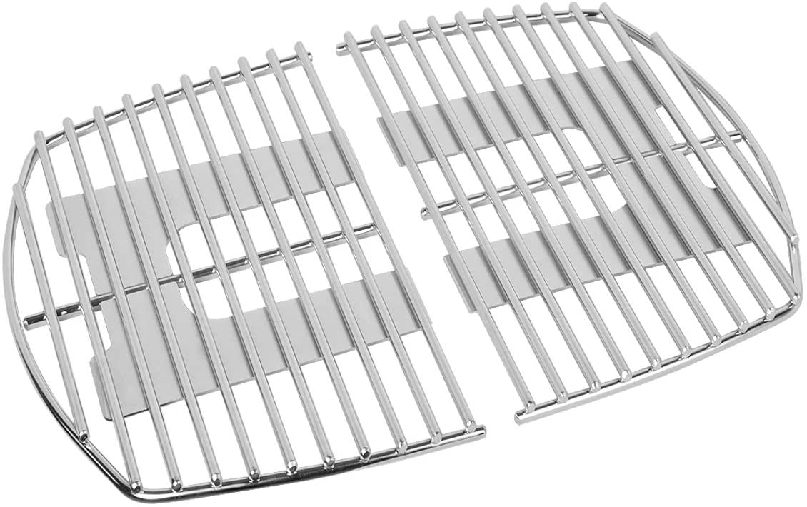 Stanbroil Stainless Steel Grill Cooking Grates Fit Weber Q100, Q1000 Series, Q1200, Q1400 Gas Grill, Replacement for Weber 7644 - Set of 2