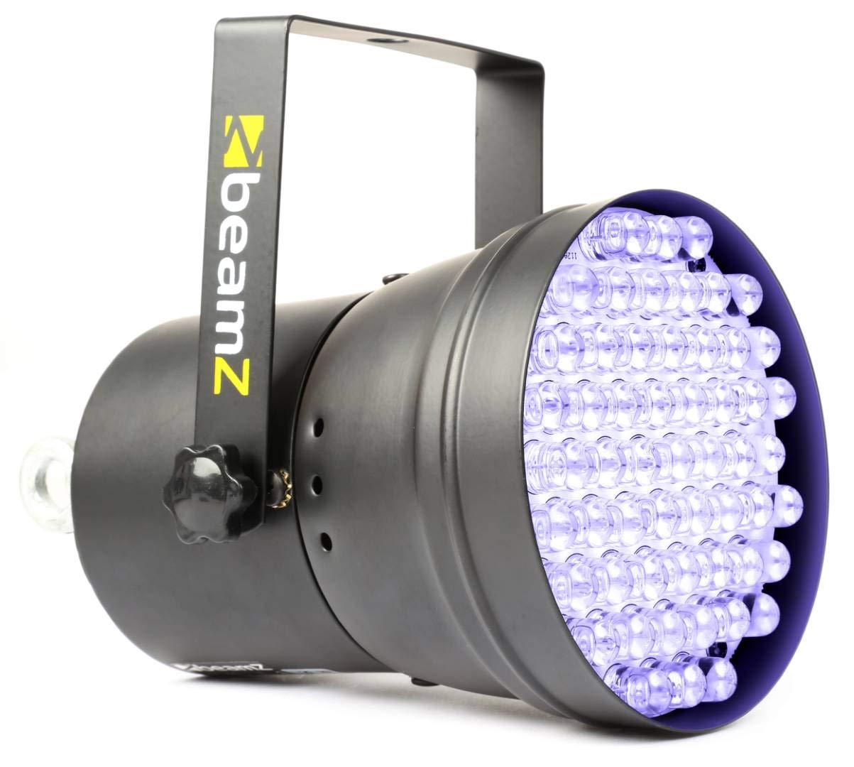 Beamz 151266 LED-Focus 36 DMX Spot 55 x 10 mm, Schwarzlicht