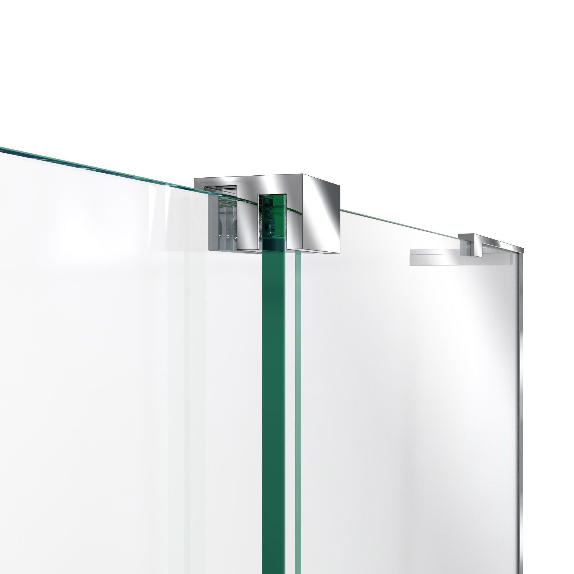 DreamLine Mirage-X 56-60 in. Width, Frameless Sliding Tub Door, 3/8'' Glass, Chrome Finish by DreamLine (Image #5)