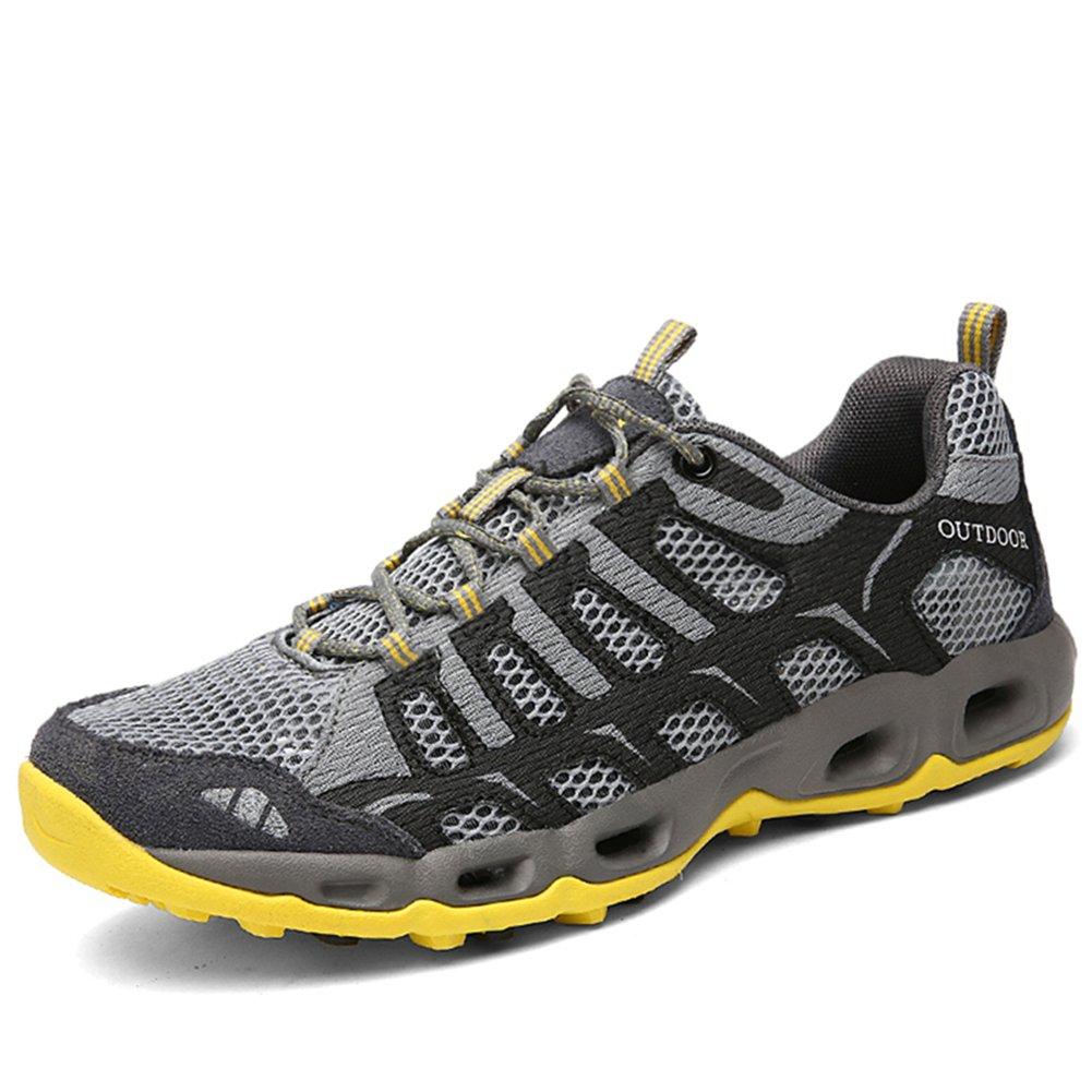 CraneLin Outdoor Hiking Shoes Walking Sneaker Boating Water & Trail Shoes for Men Women CRHW6126-Dark Grey-44