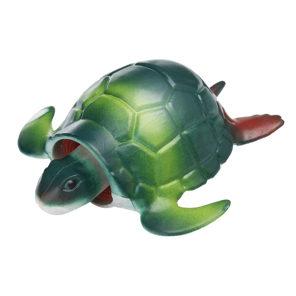 Kanzd Squeeze 13cm Turtle Stress Ball Pop Out Head Alternative Humorous Light Hearted (Green)