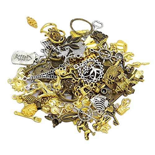 Baoblaze 50g Alloy Assorted Style Dangle Pendants Charms Findings for DIY Necklace Bracelet