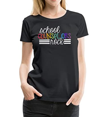 Spreadshirt School Counselors Rock Womens Premium T Shirt S Black