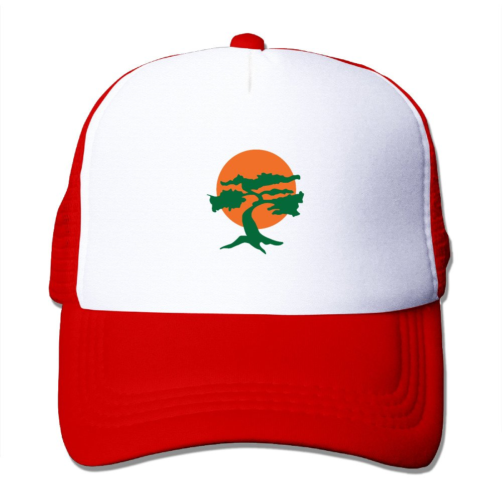 Miyagi Dojo Karate Trucker Hats & Caps With Adjustable Snapback Strap For Boys Black awesomeone