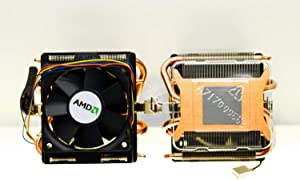 """AMD Socket AM3/AM2+/AM2/1207/939/940/754 Copper Base/Alum Heat Sink & 2.75"""" Fan w/Heatpipes & 4-Pin Connector"""
