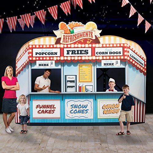 9 ft. 3 in. Carnival Circus Spectacular Food Stand Standup Photo Booth Prop Background Backdrop Party Decoration Decor Scene Setter Cardboard Cutout -
