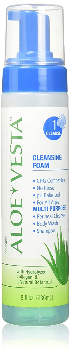 ConvaTec Aloe Vesta Cleansing Foam 8 oz (Pack of 3) : Beauty