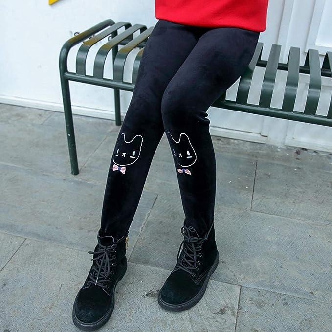 LSERVER Leggings Enfant Filles Automne Hiver Pantalon épais Chaud en Velour Brodé  Collant Fille Pleine Longueur Pantalon  Amazon.fr  Vêtements et ... be00ec6209e
