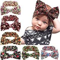 6-Pack Jiaqee Baby Girl Bowknot Turban Headband