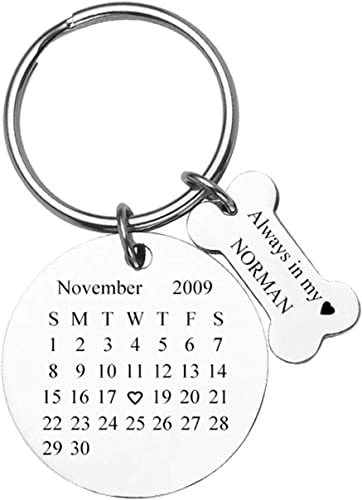 Christmas Gift Personalized Engraved Stainless Steel Keyring Keychain Black 1Pc