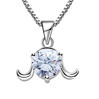 Amazon zodiac aries pendant necklace for women girl charm 925 zodiac aries pendant necklace for women girl charm 925 sterling silver jewelry aloadofball Choice Image