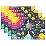 Cooper girl Cartoon Solar System Planet Placemat Heat Resistant Washable Mat 12x18 Inch for Kitchen Dining Table