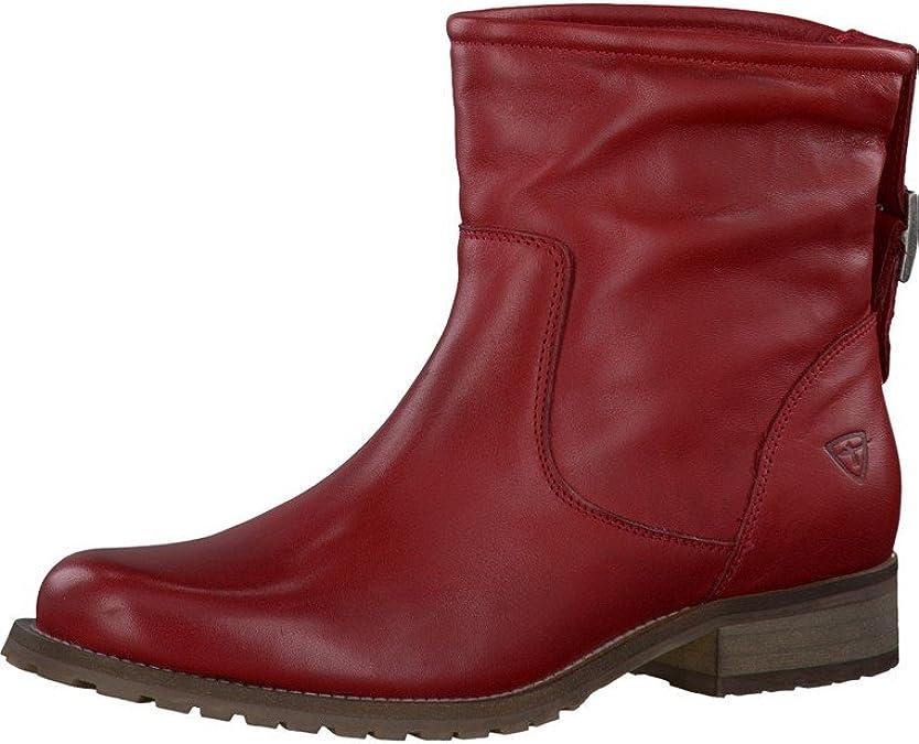 Neue Tamaris Klassische Rote Stiefeletten Damen Verkauf
