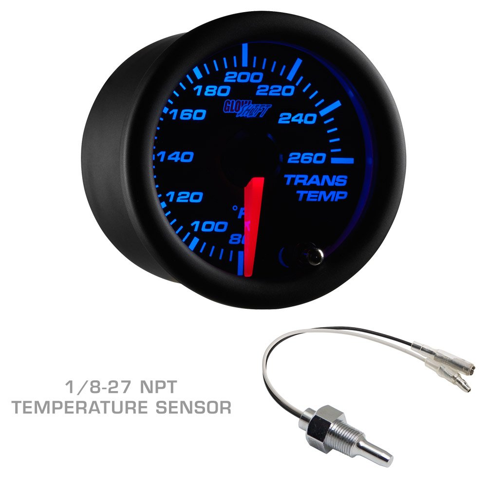 Glowshift Diesel Gauge Package For 1999 2007 Ford 92 7 3 Idi Fuel Filter Location Superduty Tan Black Boost Egt Trans Temp Automotive