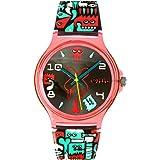 Tee-wee Chic Watches UC004–Montre bracelet pour femme, bracelet en plastique noir