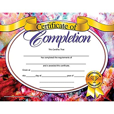 "Hayes Certificate of Completion, 8.5"" x 11\"", Pack of 30: Toys & Games [5Bkhe1102534]"