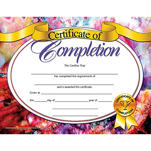 Completion Certificate (Set of 30)
