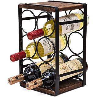 Amazoncom Amznevo Best Small Wine Rack With Glass Holder Unique