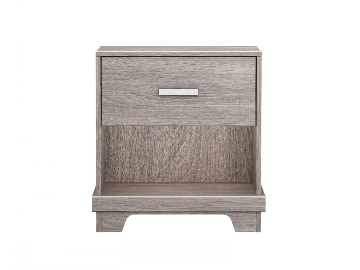 Homestar Manhattan 1 Drawer Nightstand Sonoma