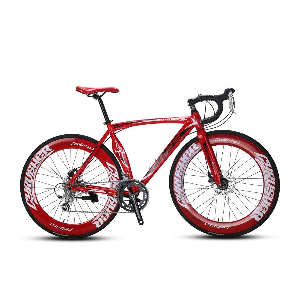 VTSP RD-Machete 自転車 ロードバイク 700C クロスバイク アルミフレーム シマノ16段変速 通勤 お得 B01NBC5SS4 レッド レッド