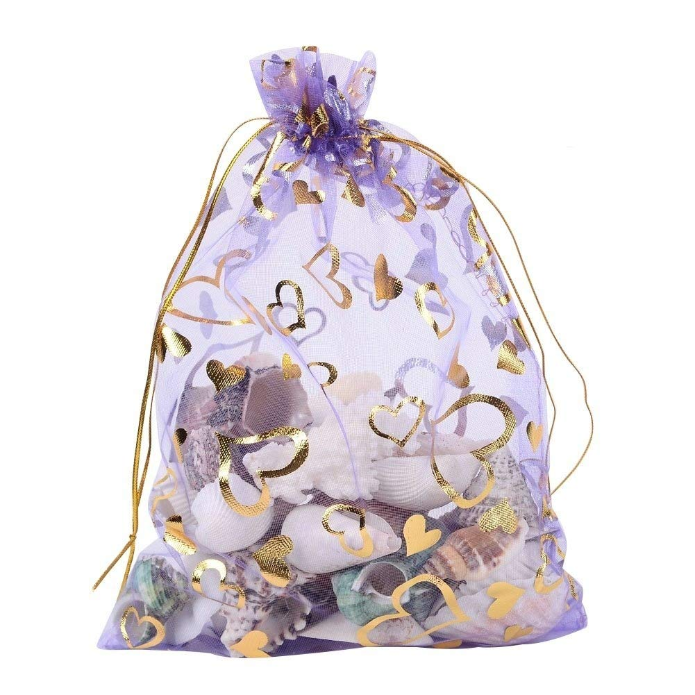Wuligirl 100pcs Drawstring Organza Bags 4x6   Lavender Love Storage Jewelry  Candy Pouches Chocolate Seashell Wedding Party Favor Easter Gift Bags for  Women ... ac5adcedcc